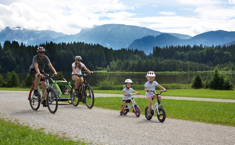 Nesselwang Radfahren Familie Web
