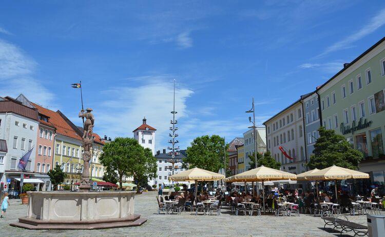 Traunstein Stadtplatz Copyright Stadt Traunstein Web