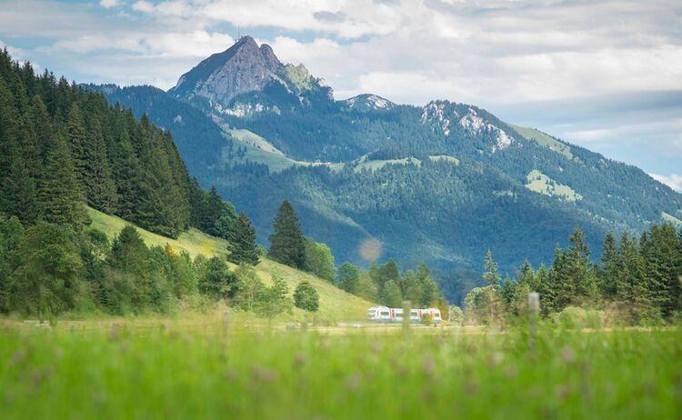 In der Ferne trohnt der Wendelstein über das Alpenvorland - Bild: Dietmar Denger