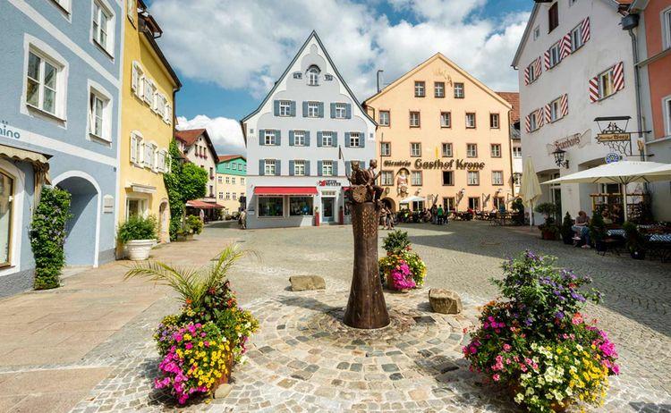 Die historische Altstadt von Füssen © Füssen Tourismus und Marketing / Andreas Hub