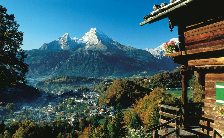 Blick auf den Watzmann von Berchtesgaden aus © BGLT