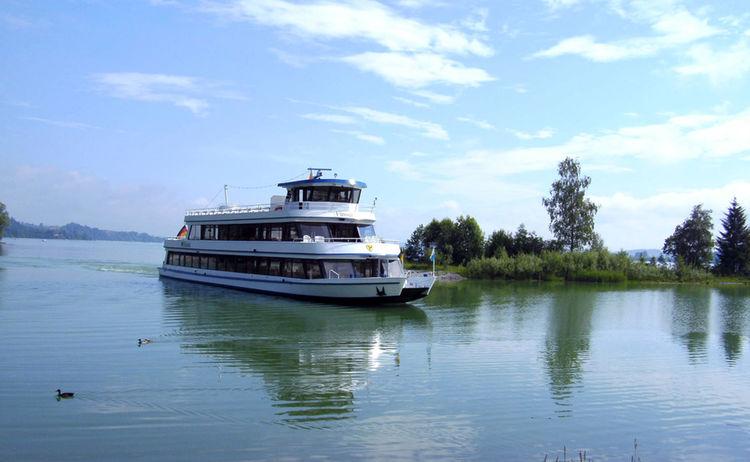 Empfehlenswerte Schifffahrt auf dem Forggensee ab Füssen © Füssen Tourismus und Marketing