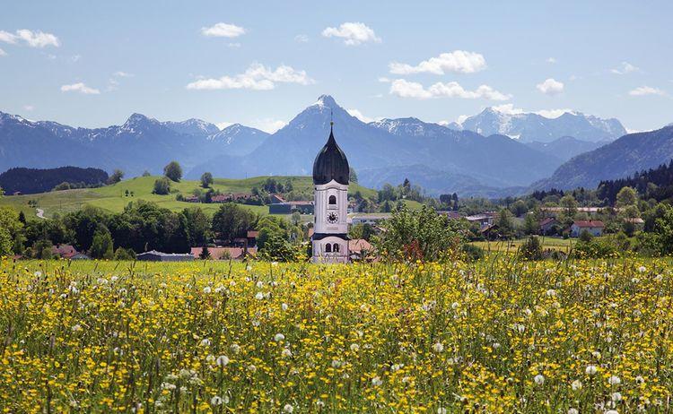 Routenteil Nesselwang Mit Pfarrkirche St Web