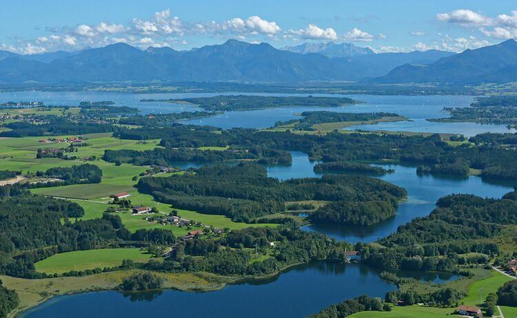 Der Chiemsee, das Alpenpanorama, die Eggstätt-Hemhofer Seenplatte © Chiemsee-Alpenland Tourismus