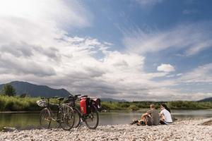 Allgäu Gipfelwelten: Radler bei Sonthofen